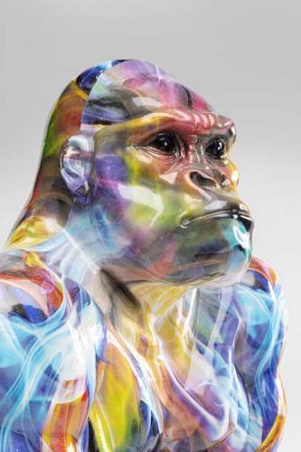 Dekor | Skulptur Gorilla Flerfärgad