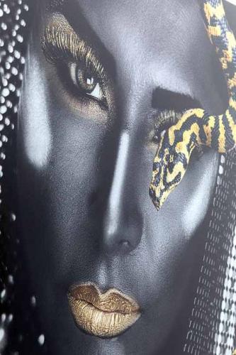 Glastavla | Fotokonst Fearless, 100x100cm