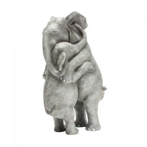 Skulptur Kramande Elefanter