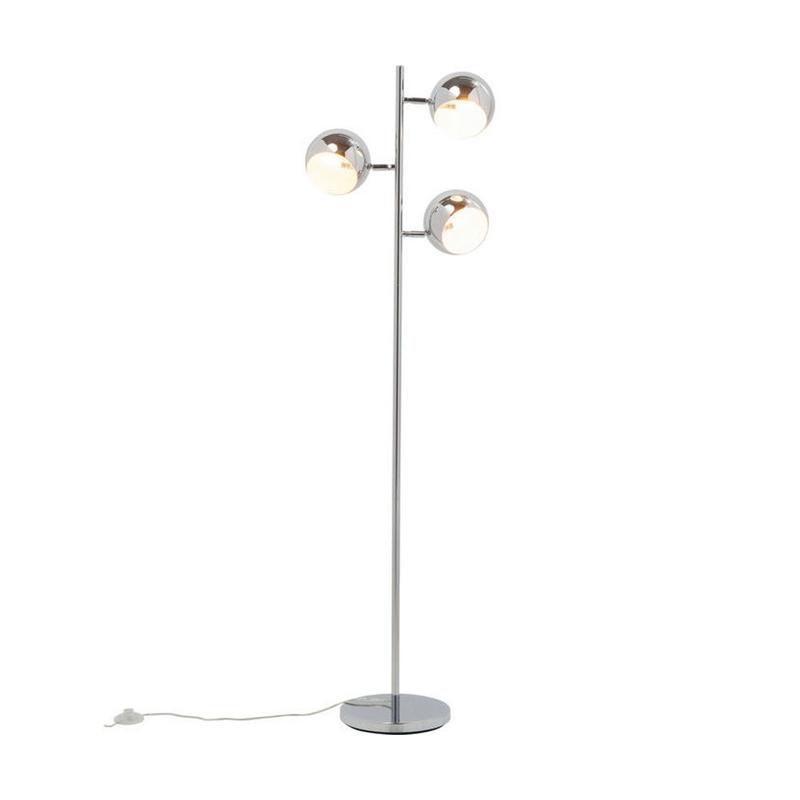 Snygg kromad golvlampa i 70-tals design