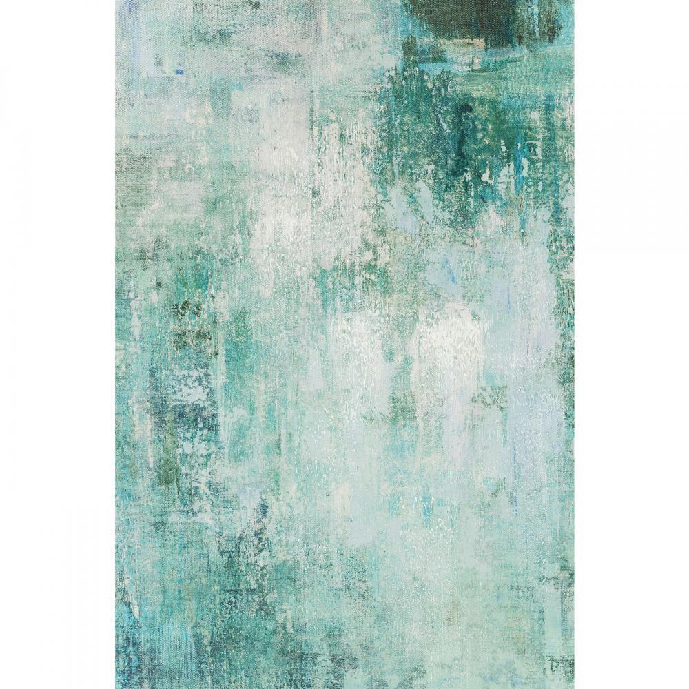 Abstrakt konst i gröna toner - Wohnzimmer.se