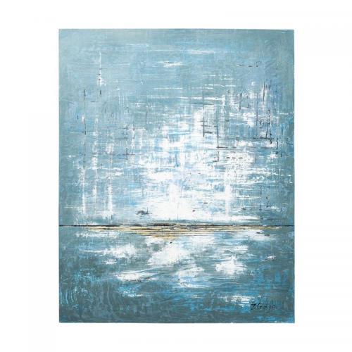 Tavla Abstrakt i blått