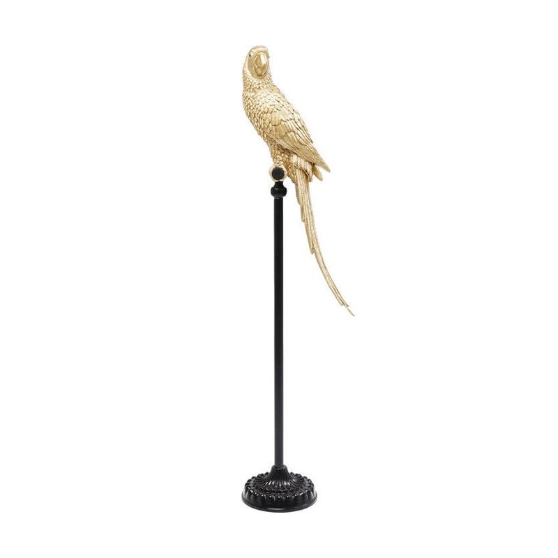 Dekor figur Parrot Guld 116 cm