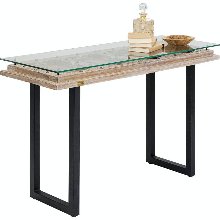 unikt konsolbord med vacker antik patina