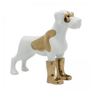 Dekor Hund med guldstövlar