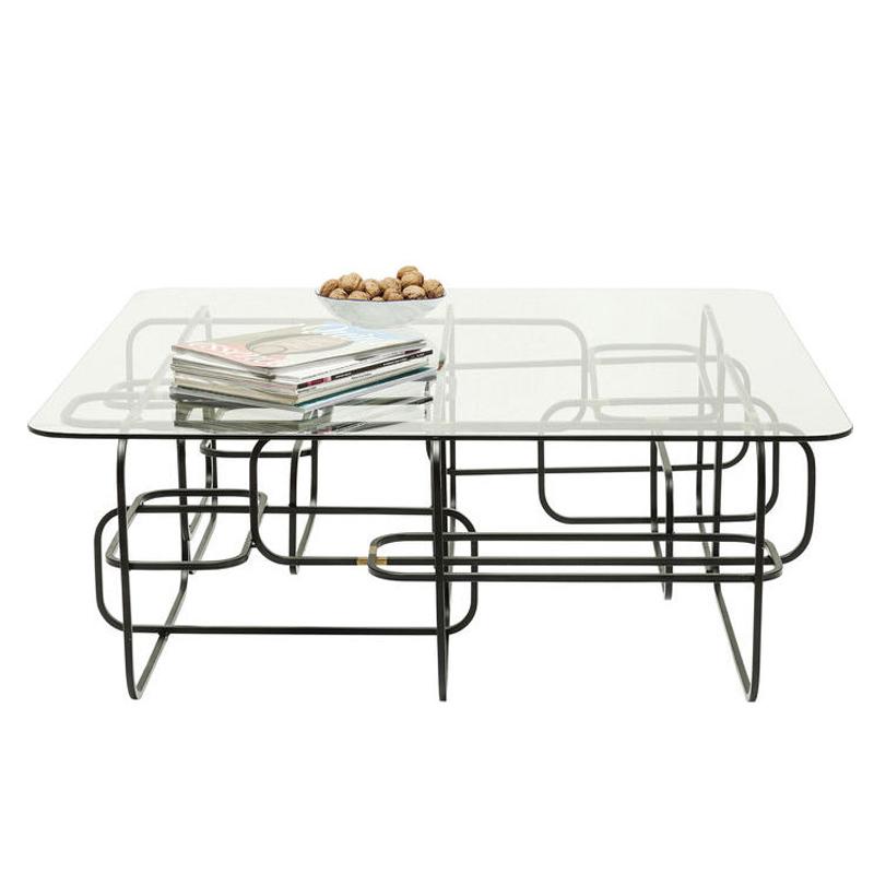 Soffbord | glasbord Linate svart