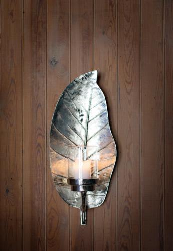 Väggljusstake Silverleaf