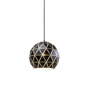 Taklampa Glob svart 30 cm