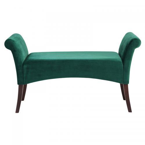 Djupgrön klassisk sittbänk - Wohnzimmer.se