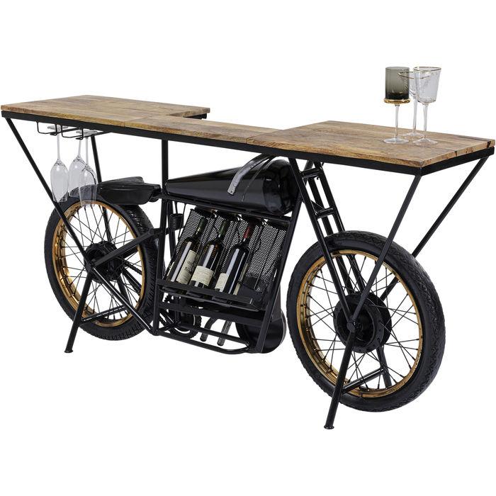 Ett unikt barbord i form av en veteran motorcykel - för hemmabruk och butik