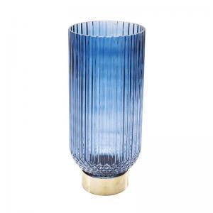 Vas färgat glas mörkblå