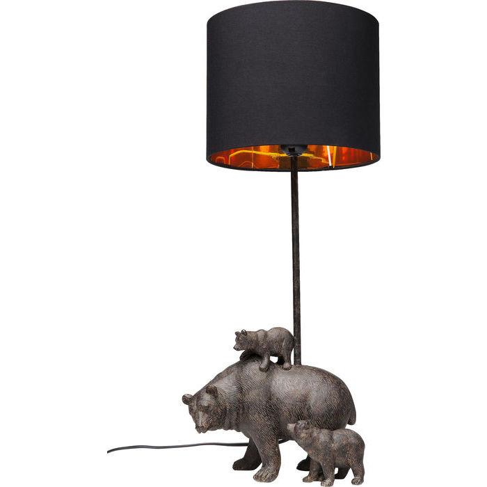 Lampa med fot av björnar