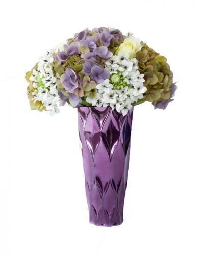 Blombukett Hortensia Lila, konstväxt