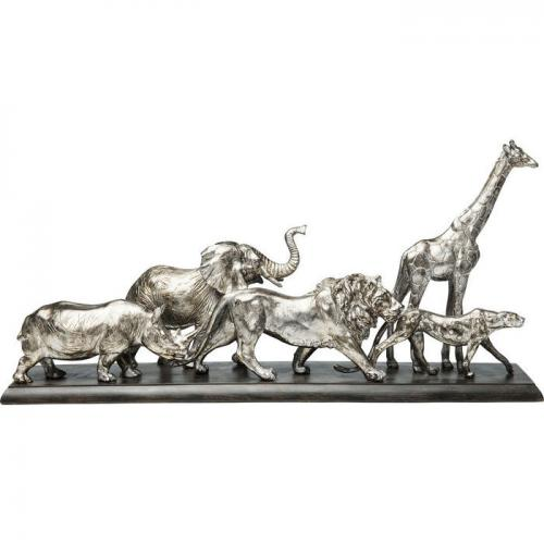 En vacker djur-skulptur och dekor i silverfinish