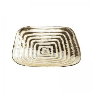Fat | Skål Maze Guld fyrkant
