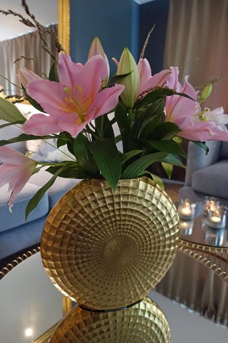 Stor vacker vas i orientalisk stil