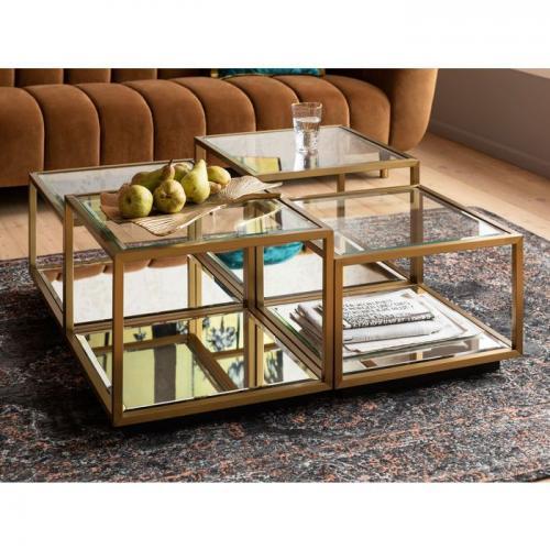 Soffbord Spegel & Glas 4-set