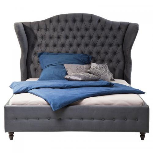 Säng Boudoir Grå 180 cm