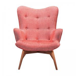 Klassisk öronlappsfåtölj i mild fin rosa - wohnzimmer