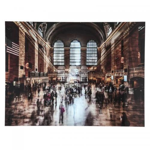 Glastavla Grand Central Station 120x160cm