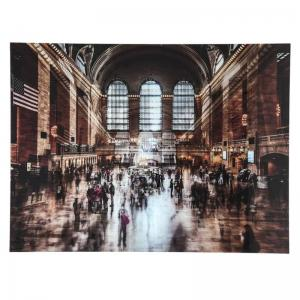 Glastavla Grand Central Station 120x160cm