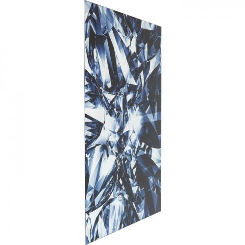 Glastavla Blue Diamond 120 cm