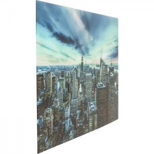 Glastavla New York sunset 120x80