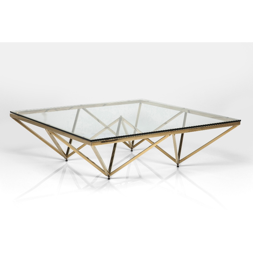 Soffbord Geometry Gold Glas