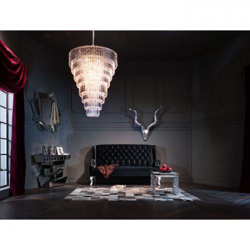 Soffa Barocco Black Velvet