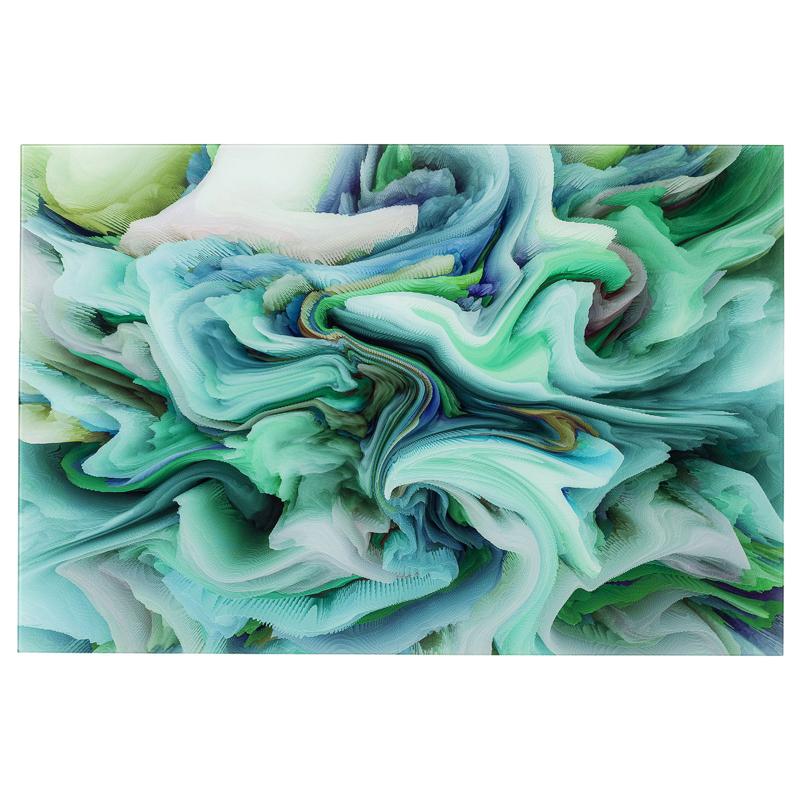 Glastavla Motions in green 120 cm