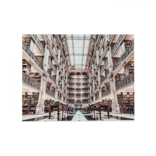 Glastavla Library 70x90 cm