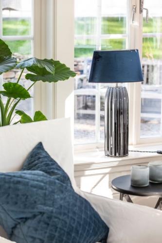 Bordslampa |Lampfot Bullet Gråblå