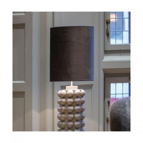 Lampskärm Sammet Antracit cylinder 43 cm