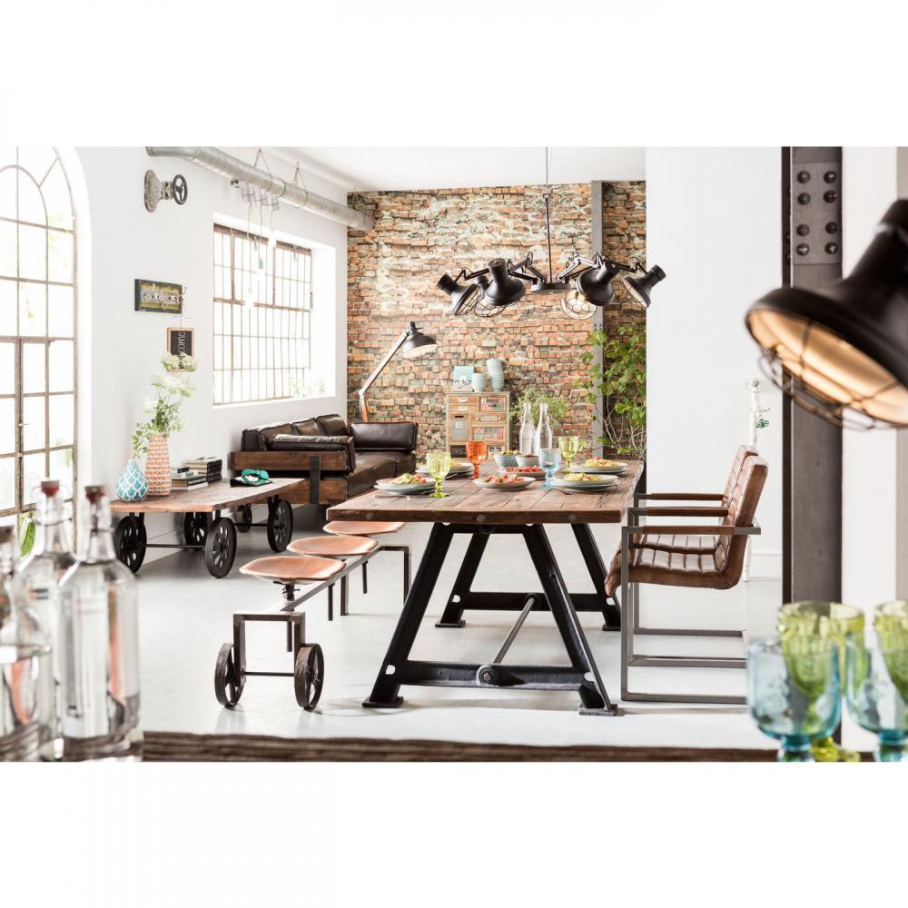 Inredning i industristil - wohnzimmer