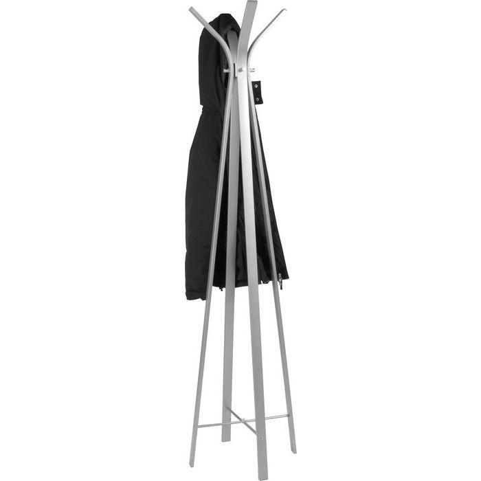 En stilren stålgrå klädmajor i minimalistisk design