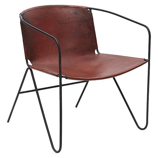 Rustik läderfåtölj - Wohnzimmer.se