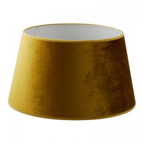 Lampskärm Gul sammet 36 cm