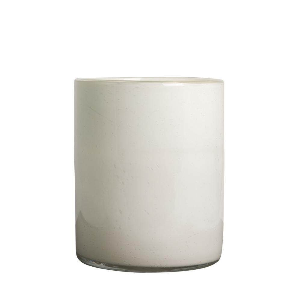 Ljuslykta Stämning Vit glas 24 cm