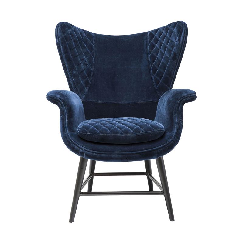 Fåtölj Blue Velvet Suit