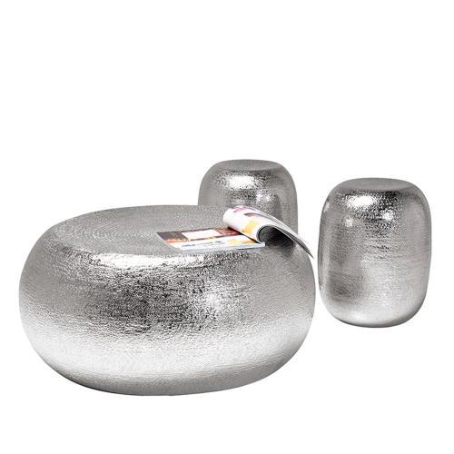 Loungeset Bord och pallar Silver