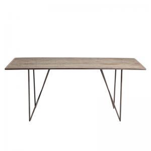 Matbord Skiffer brons