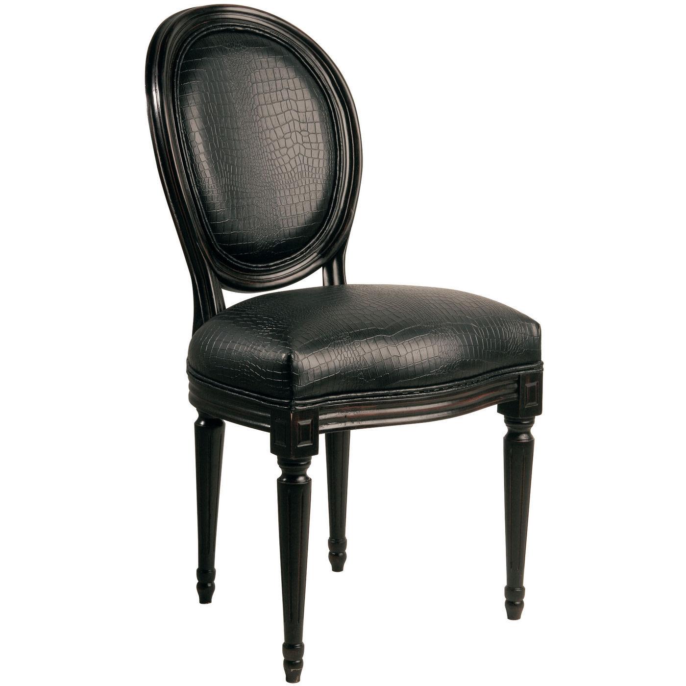 Stol louis croco black for Kare design stuhl louis