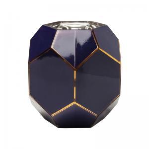 Vas   Dekor Blå Hexagon