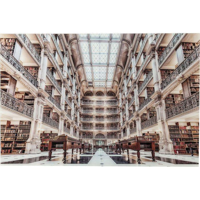 Glastavla Library 100x150 cm