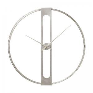 Väggklocka Tiden Silver 60 cm Ø