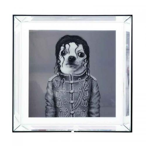 Tavla Mr Pop, spegelram 60x60 cm
