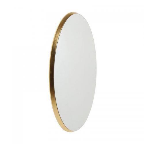 Spegel Simplicity Oval Guld 94x64 cm