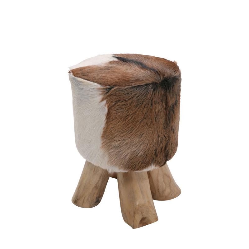 Pall Ice Age i trä och getskinn