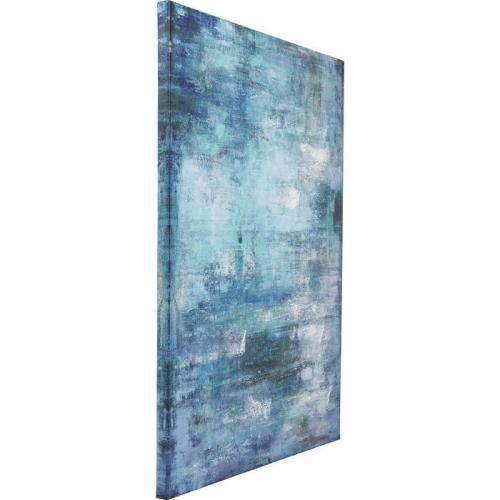 Canvas Abstrakt Blå 120 cm