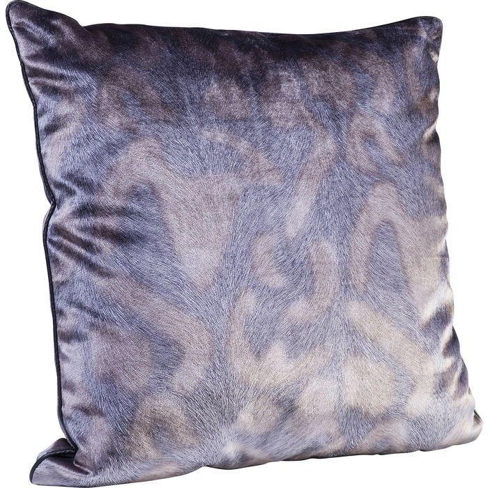 Prydnadskudde med abstrakt motiv i mörk grå och brunbeige nyans. Mått: 45x45 cm.